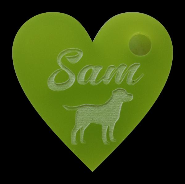 Hundemarke mit Gravur Herz 30mm