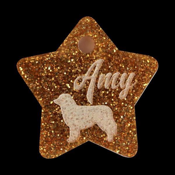 """Dog Tag """"Star"""" 35mm"""