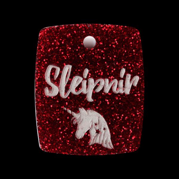 Pferdemarke Glitter mit Gravur Plakette 35mm