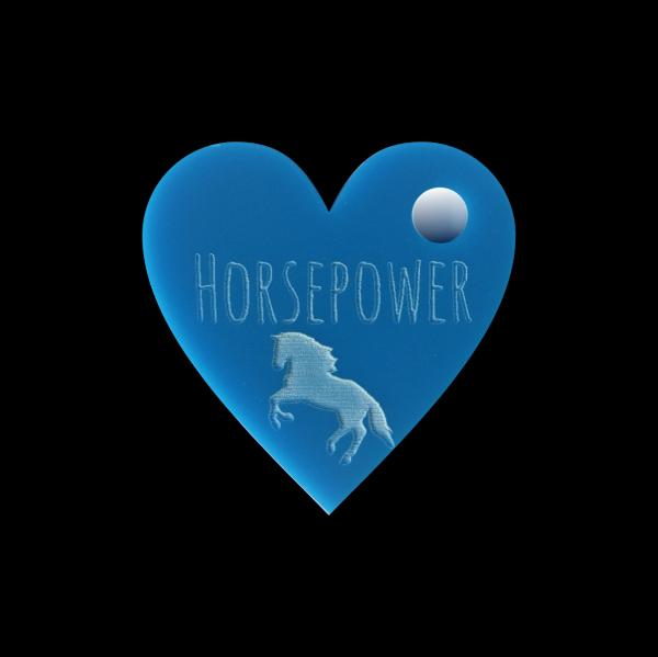 Pferdemarke mit Gravur Herz 30mm